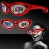 Red LED Novelty Sunglasses