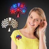 LED Checkered Flag Blinky-12 Pack