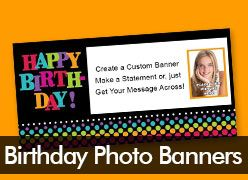Birthday Custom Photo Banners