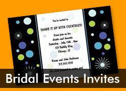 Personalized Bridal Event Invitations