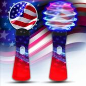 Patriotic LED and Light-Up Coin Spinner Wand