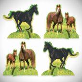 Horses Centerpieces-4 Pack