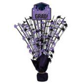 """Purple Congrats Grad Spray Centerpiece - 18"""""""
