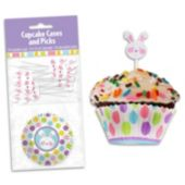 Easter Cupcake Cups with Toppers Kit-24 Pack