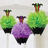 Witch Fluffy Decorations -3 Per Unit