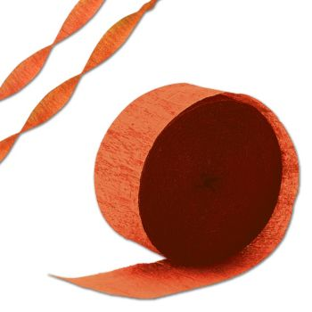 Orange Crepe Paper Streamer
