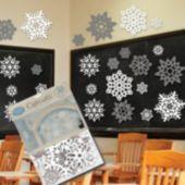 Snowflake Silver & White Cutouts-30 Pack