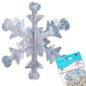 3-D Snowflake Decorations - 5 Per Unit