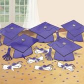 Purple Graduation Party Table Decorating Kit