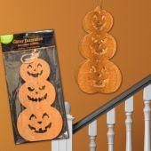 Pumpkin Stack Glitter Decoration