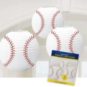 Baseball Paper Lanterns-3 Pack