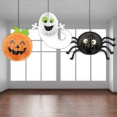 Halloween Hanging Decorations - 3 Per Unit