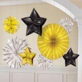 Black, Silver & Gold Foil Starburst Decorating Kit
