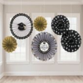 Congrats Grad Hanging Fan Decorations-6 Pack