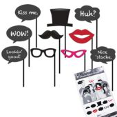 Black Tie Photo Booth Prop Kit
