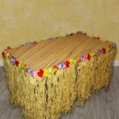 Flowered Grass Table Skirt