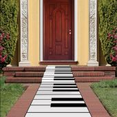 Piano Keyboard Floor Runner