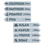 Italian Street Signs-4 Pack