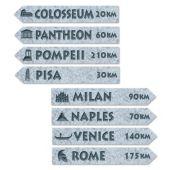 Italian Street Signs-4 Per Unit