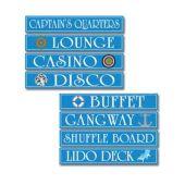 Cruise Ship Cutouts-4 Pack