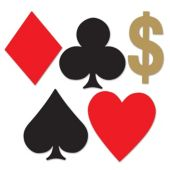 Playing Card Suit Mini Cutouts-4 Pack