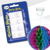 Party Stick Ceiling Hooks – 8 Pack