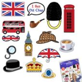 British Photo Booth Prop Kit