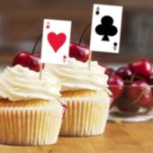 Playing Card Garnish Picks-50 Per Unit