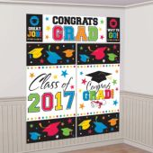 2017 Colorful Congrats Grad Wall Decorating Kit