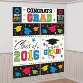 2016 Colorful Congrats Grad Wall Decorating Kit