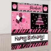 Fierce & Fabulous Birthday Wall Decorating Kit