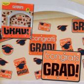 Orange Graduation Cutouts-30 Pack