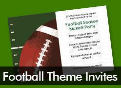Personalized Football Theme Invitations