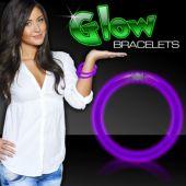 """Purple Glow Bracelets-8""""- 50 Per Tube"""