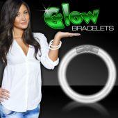 """White Glow Bracelets-8""""- 50 Per Tube"""