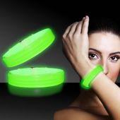 """Green Glow Triple Wide Bracelets-9""""- 25 Pack"""