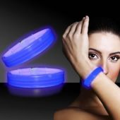 "Blue Glow Triple Wide Bracelets-9"" -25 Pack"