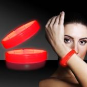 "Red Glow Triple Wide Bracelets-9""-25 Pack"