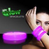"""Pink Glow Triple Wide Bracelets-9""""-25 Pack"""