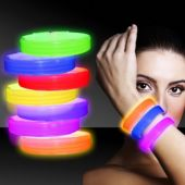 "Glow Triple Wide Bracelets-9"" -25 Pack"
