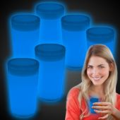 Blue Glow Shot Glasses-6 Pack