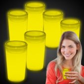 Yellow Glow Shot Glasses-6 Pack