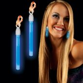 Blue Glow Clip On Earrings
