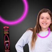 """Pink Glow Necklace-22""""- Retail Pack"""