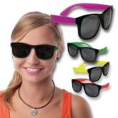 Neon Retro Sunglasses-12 Pack