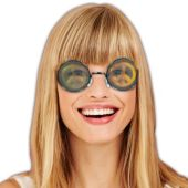 Peace Sign Holographic Glasses - 12 Pack