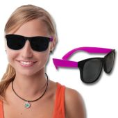 Neon Pink Retro Sunglasses-12 Pack