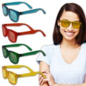 Multi Colored Blues Glasses - 12 Pack