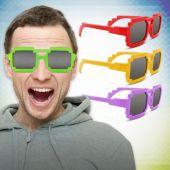 Pixel Mirrored Sunglasses-12 Pack