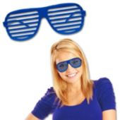 Blue Slotted Glasses - 12 Pack